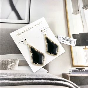 Kendra Scott Alex black gold earrings